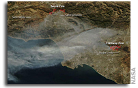 NASA Aqua Satellite Views of Fires in California