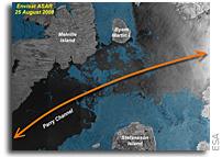 Arctic sea ice annual freeze-up underway
