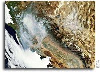 Earth from Space: California ablaze