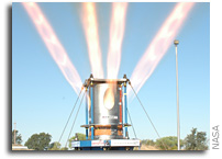 NASA Conducts Full Scale Test Firing of Orion Jettison Motor