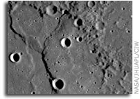 Mercury's shifting, rolling past - Simulation reveals possible cause of Mercury's distinctive features