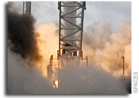 SpaceX Conducts Static Test Firing of Next Falcon 1 Rocket