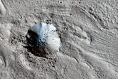 Fretted Terrain and Fresh Crater