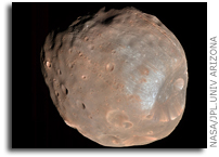 NASA Mars Reconnaissance Orbiter's HiRISE Sees Phobos in Color and Stereo