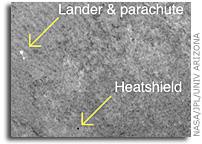 NASA's Orbiting HiRISE Camera Saw Phoenix Heat Shield in Freefall