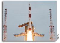 India's PSLV Successfully Launches Ten Satellites