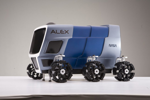 Advanced Lunar Explorer (ALEX) rover model