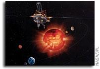 Ulysses Spacecraft Flies Over Sun's North Pole