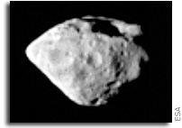 Images From Rosetta's Encounter With Asteroid Steins: A Diamond in the Sky