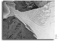 Even the Antarctic winter cannot protect Wilkins Ice Shelf