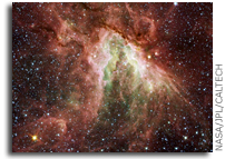 Rivers of Gas Flow Around Stars in New Space Image