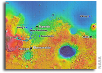 Site List Narrows For NASA's Next Mars Landing