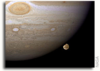 Hubble Catches Jupiter's Largest Moon Going to the 'Dark Side'