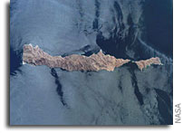 NASA International Space Station Imagery:  Isla San Lorenzo and Isla Las Animas