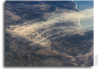 NASA ISS Imagery: Dust plumes, Baja California, Mexico