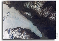 NASA International Space Station Imagery: Tyndall Glacier