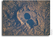 NASA International Space Station Imagery: Dendi Caldera, Ethiopia