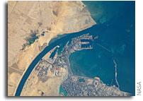 NASA International Space Station Imagery: Port of Suez, Egypt