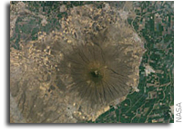 NASA International Space Station Imagery: Cerro Culiacan, Guanajuato, Mexico