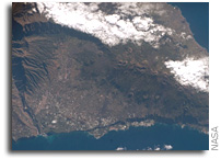 NASA ISS Imagery: Isla de la Palma in the Canary Islands