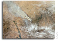 International Space Station Imagery: Piute fire in California