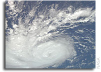 International Space Station Imagery: Hurricane Bertha