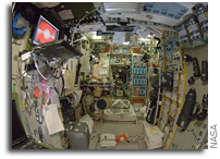 International Space Station Imagery; Interior view of the Zvezda Service Module