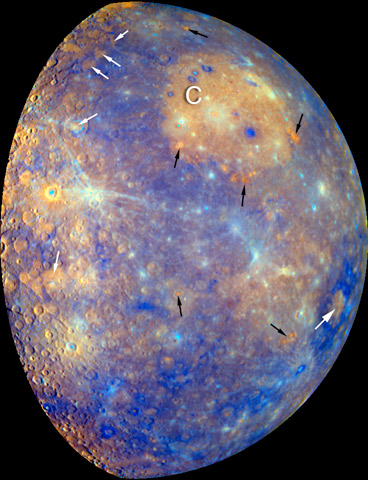 Mercury's Surface Dominated by Volcanism and Iron Deficiency
