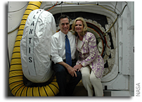NASA FOIA Images: Mitt Romney Tours SSPF-Pad 39A at KSC on 21 January 2008