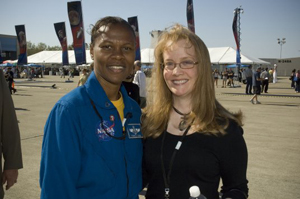 Shana Dale with Astronaut Cagle at Yuri Night, Ames Research Center