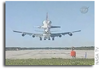 Space Shuttle Ferry Flight Arrival On NASA TV's Public Channel