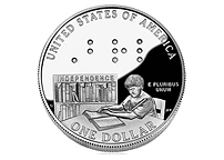 NASA Presents Coins Flown in Space to National Federation of the Blind