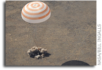 Picture Perfect Soyuz Landing in Kazakhstan