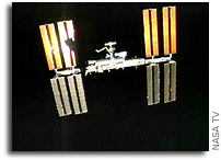 Space Shuttle Endeavour Parts With International Space Station