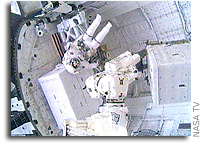 First Spacewalk of STS-128 Mission Complete