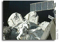 Third Spacewalk of STS-128 Mission Begins