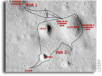 Lunar Orbiter Image Recovery Project (LOIRP) Releases New Image of Apollo 12/Surveyor III Landing Site