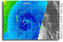 Hurricane Season 2009: Two NASA Satellites See Remnant Low Dolores Go Out Kicking
