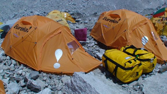 My bags and my new tent & Keith Cowing: Living at Everest Base Camp - SpaceRef