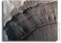 NASA Mars Reconnaissance Orbiter HiRISE Image: Layering at Ganges Chasma