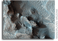NASA MRO HiRISE IMage: Layered Outcrops on Crater Floor