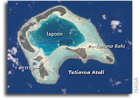 NASA Earth Observatory Image: Tetiaroa Island, French Polynesia