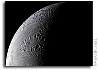 Saturnian Moon Enceladus Shows Evidence of Ammonia