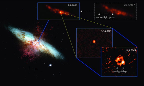 Mysterious Radio Waves from Unknown Object in M82 Galaxy