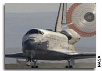 Space Shuttle Atlantis Lands at Edwards Air Force Base