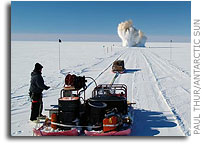 South Pole Traverse on track: Use of Tractors to Transport Cargo, Fuel Back in Vogue