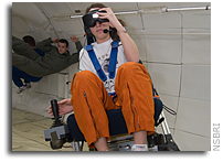 Students get weightless testing personal navigation aid for spaceflight