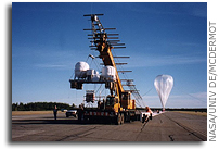 Three Balloon Missions Simultaneously Afloat Above Two Continents