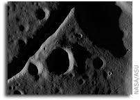 NASA LRO LROC Image: The fractured floor of Compton