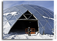 Deconstruction of the Dome - Iconic South Pole building to come down during 2009-10 season